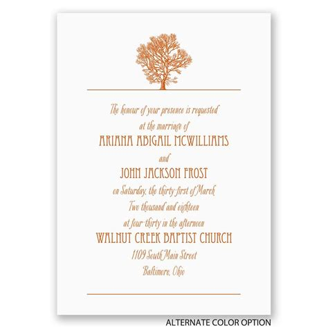 Oak Tree Wedding Invitations by Oak Tree Invitation S Bridal Bargains