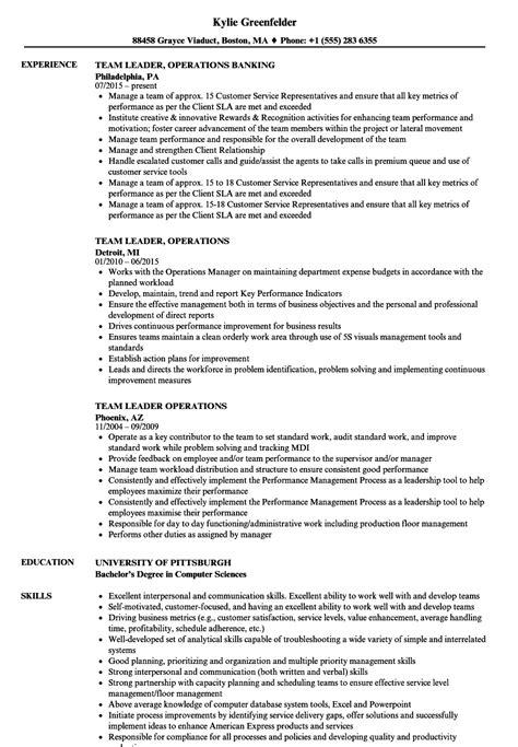 team lead resume sle bpo team leader operations resume sles velvet