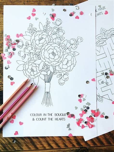 printable wedding colouring sheets  kids
