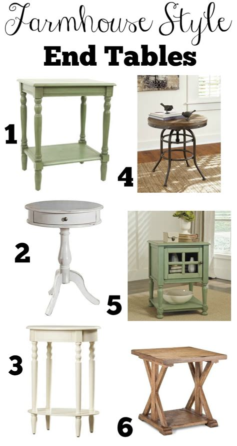 white farmhouse end transitioning to farmhouse style complete shopping guide
