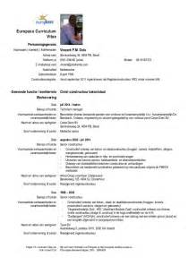 Curriculum Vitae With Photo Template cv vpm dols europass template nederlands 1 2016