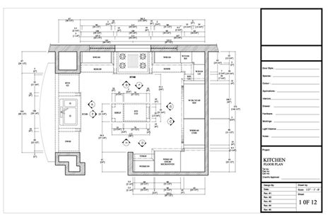 draw kitchen floor plan drafting by ids