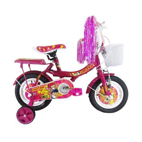 Kaos Anak Sepeda Pink jual united twist sepeda anak pink 12 inch harga kualitas terjamin blibli