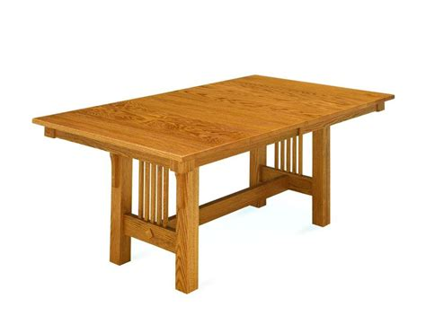 Amish Made Dining Tables Amish Made Mission Trestle Dining Table