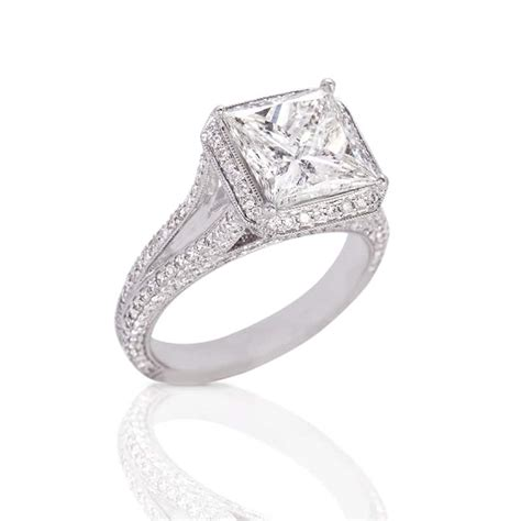 simply suductive princess cut engagement ring in