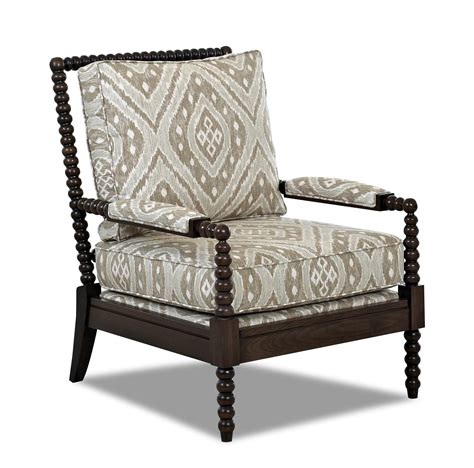 accent chair with klaussner chairs and accents accent chair with spool