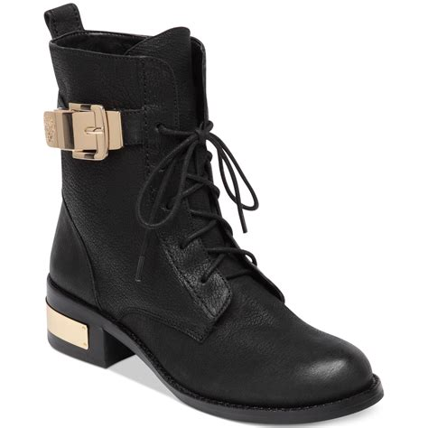 vince camuto boots flat boots ankle boots in black lyst