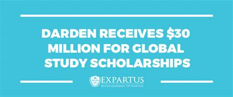 Darden Mba Credits by Darden Receives 30 Million For Global Study Scholarships