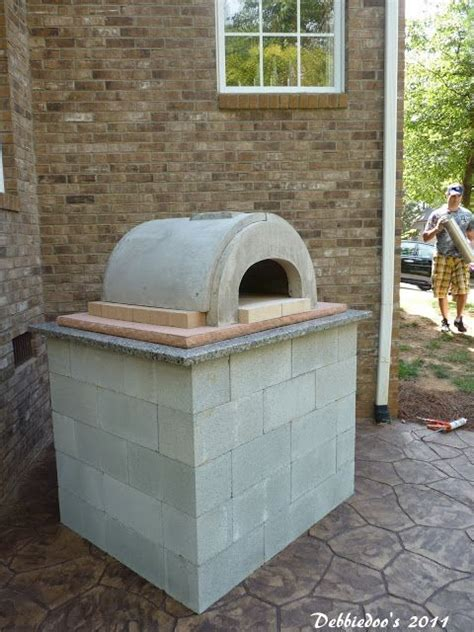building pizza oven backyard 13 best images about cinder blocks on pinterest outdoor