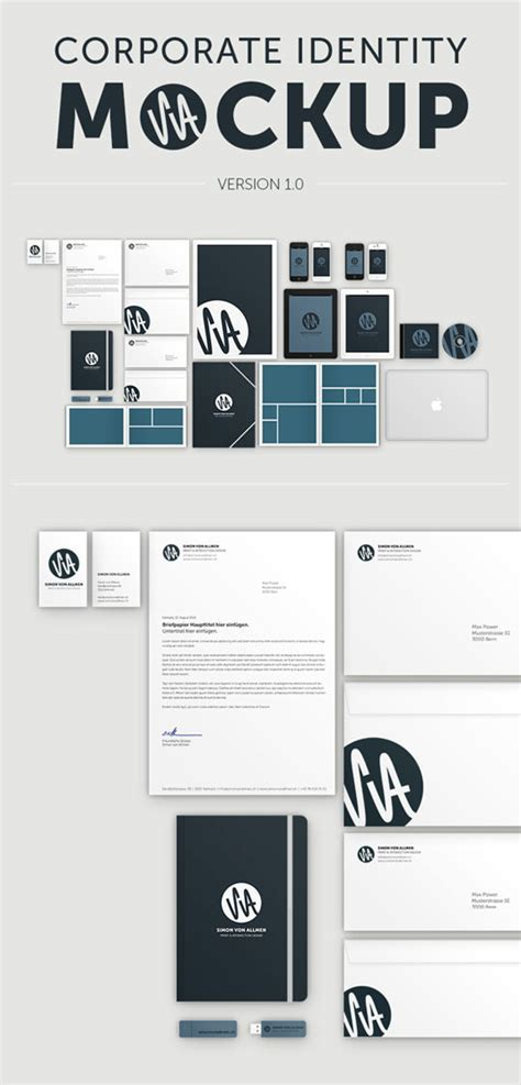 23 Free Sets Of Branding Identity Mockup Templates Psd To Present Your Company In A Modern Way Brand Identity Template