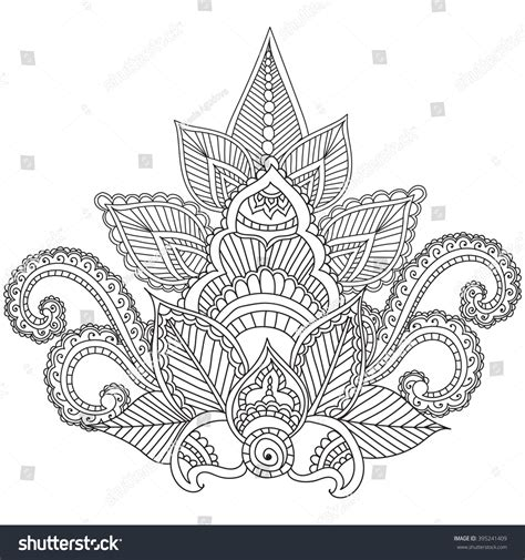 design for adults coloring pages adults henna mehndi doodles stock vector