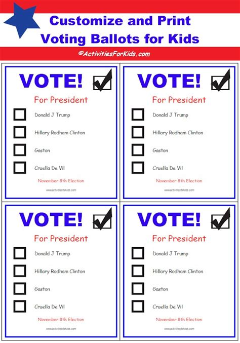 election ballot template printable voting ballots for add your candidates