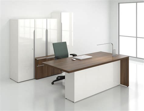 Office Desk With Hutch Storage by Nex Modern Executive Office Desk With Storage Bookcase