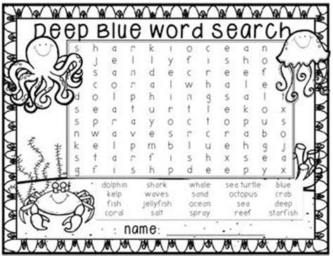 printable ocean animal word search 212 best word searches puzzles etc for kids images on