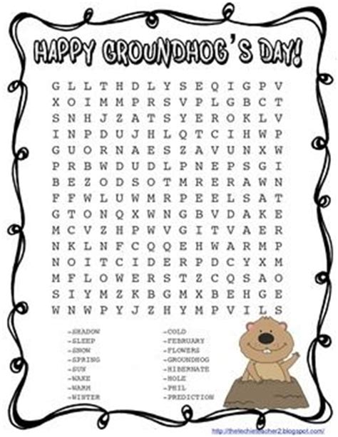 groundhog day phrase groundhog day wordsearch new calendar template site