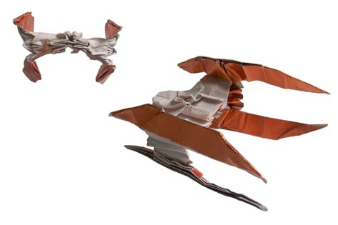 Origami Vulture Droid - starwarigami showcases complex wars origami that will