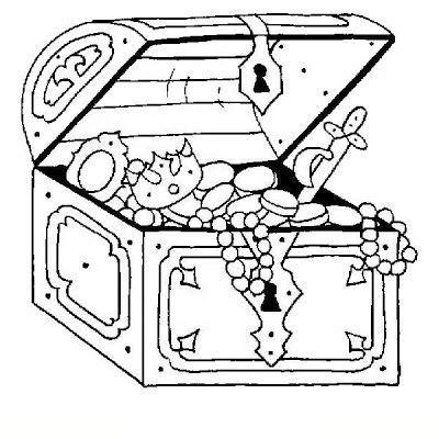 dibujo de un tesoro cofre del tesoro para colorear dibujo views dibujo