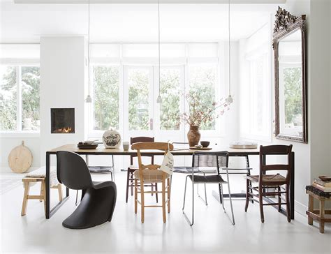 mixed dining room chairs chair crush the black panton chair erika brechtel