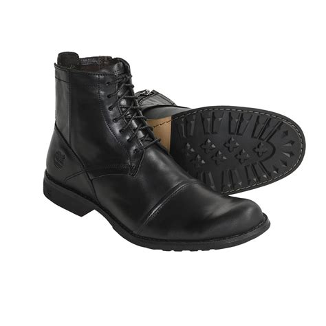 Timberland Skull Black black leather boots for cr boot