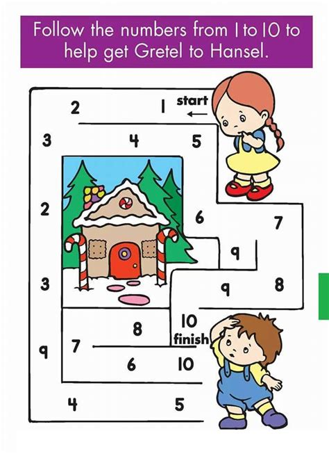 kindergarten counting amp numbers mazes worksheets 1