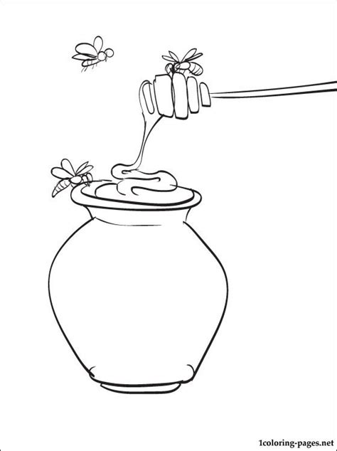 free coloring pages of i love honey
