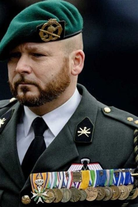 tattoo on commandos neck marco kroon decorated member of the dutch korps commando