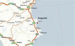 where is augusta on the map augusta italy location guide