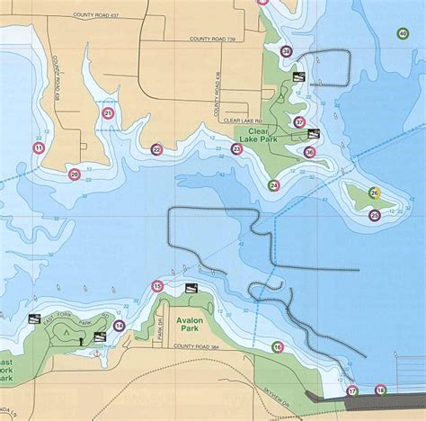 fishing maps texas lake lavon texas fishing map