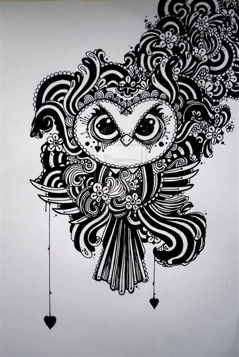 Owl Zentangle Tattoo | 25 best ideas about owl doodle on pinterest owl crafts