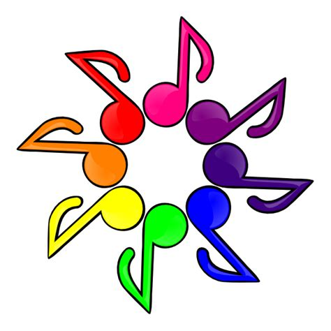 musica clipart color white background clip at clker