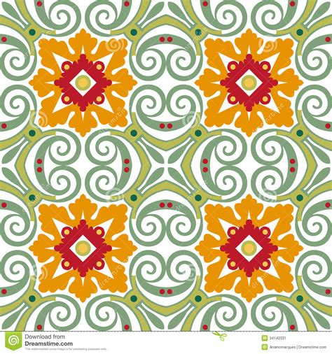 flower pattern wall tiles old floral tiles stock vector image of mosaic