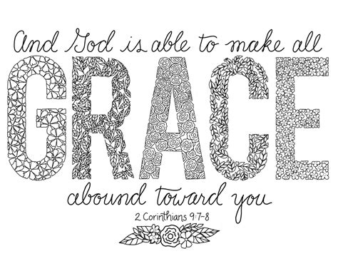 coloring pages of the name grace just what i squeeze in grace coloring page 7