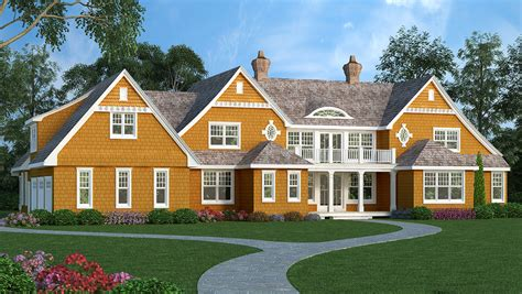 high end house plans high end shingle style house plan 3898ja 1st floor