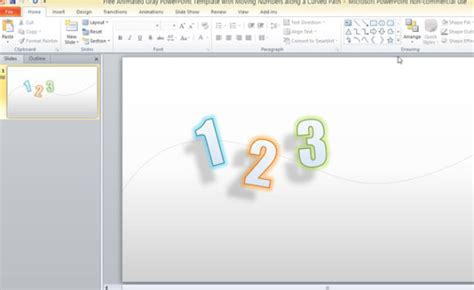 powerpoint presentation templates for numbers free animated gray powerpoint template with moving numbers