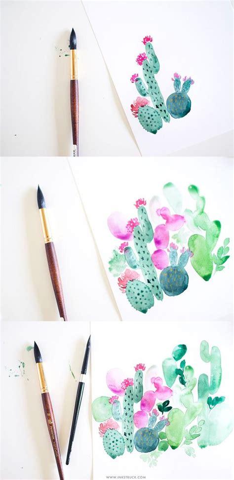 watercolor design tutorial cactus painting tutorial in watercolor watercolor
