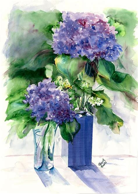 Hydrangea In Vase by Hydrangea Paintings Picture Image By Tag Keywordpictures