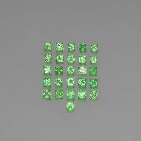 Tsavorite Green 2 1ct Item 2 1 carat square 2 3x2 3 mm princess cut and
