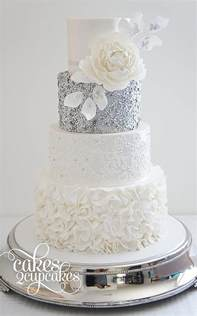 silver wedding cake decorations wedding ideas by colour chwv