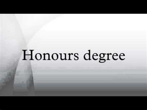 honours degree