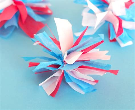 How To Make Fireworks Out Of Paper - tissue paper fireworks val event gal