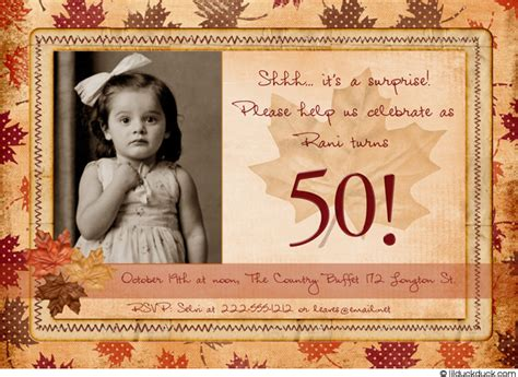 50th birthday invitation template free wedding