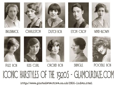 hair style names1920 history of womens fashion 1920 to 1929 glamourdaze