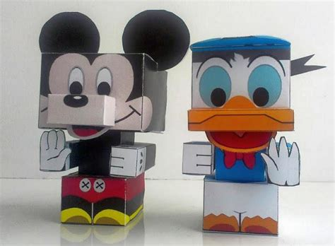 papercraftsquare new paper craft mickey mouse and