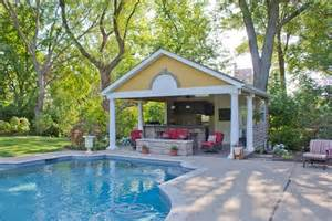 House With A Swimming Pool Pool Houses Amp Cabanas Landscaping Network