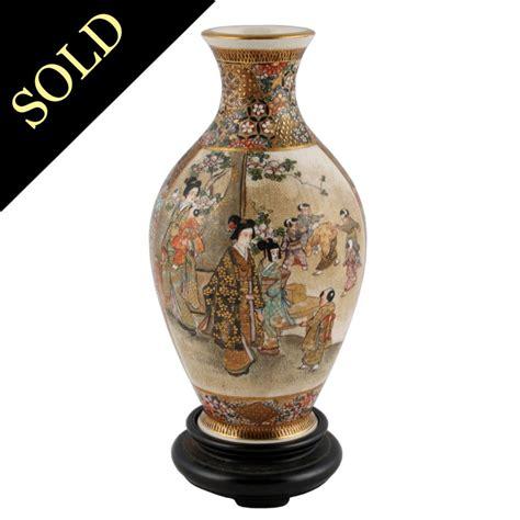 Japanese Porcelain Vases by Satsuma Pottery Vase Antique Japanese Vase Antique