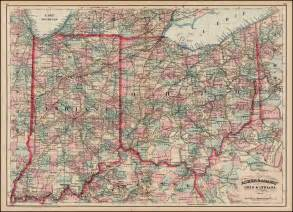 Indiana Ohio Map by Asher Amp Adams Ohio Amp Indiana Barry Lawrence Ruderman
