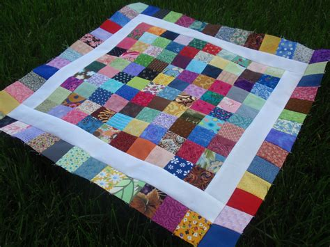 Square Block Quilt Patterns by 100 Patch Quilt Tutorial Wedding Dress Blue