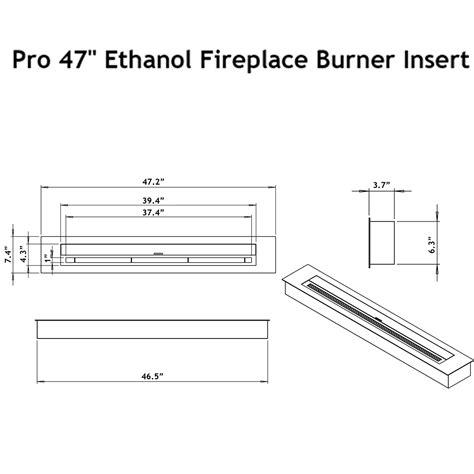 moda pro 47 quot ethanol fireplace burner insert