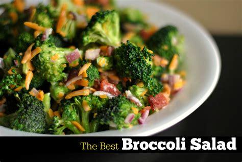 best salad recipes best broccoli salad recipe dishmaps