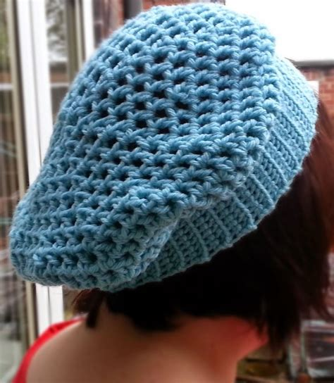 crochet hat pattern thick yarn hooking crazy quick and easy slouchy crochet hat pattern